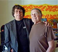 Harvey Kuberni and Henry Diltz (photo by Nancy Rose)