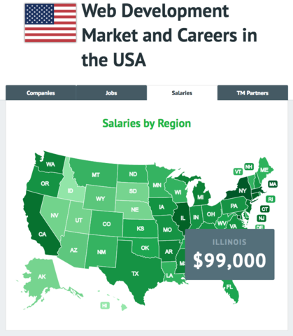 """Research """"Web Development Market and Careers in the USA"""""""
