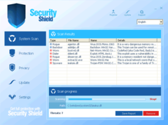 Security Shield 2012 scanner interface