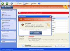 Windows Functionality Checker persuades users to activate the rogue antispyware program
