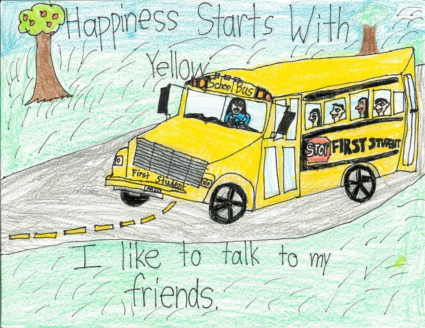 Winning artwork created by Richard Xu, a second grader in the Jericho School District.