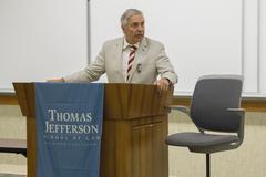 U.S. District Judge Larry Alan Burns introducing keynote speaker.
