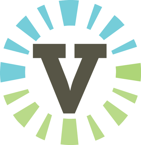 Outdoor Ventures circle logo includes the green of the forest and the blue of the sky.