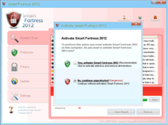 Smart Fortress 2012 urges PC users to activate the bogus program