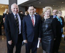Minister Duguid joins OBI Chair Joseph Rotman and Holland Bloorview's President & CEO Sheila Jarvis