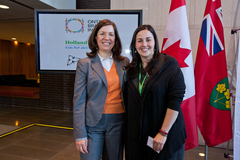 Dr. Evdokia Anagnostou, heads one of the projects known as POND, Dr. Darcy Fehlings, leads a second project called the Childhood Hemiplegic Cerebral Palsy Integrated Neuroscience Discovery Network