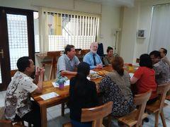 Professor Slomanson at Atma Jaya Faculty Dinner.