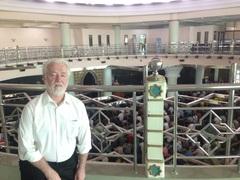 Professor Slomanson inside the Islamic University of Indonesia (Yogyakarta) Campus Mosque