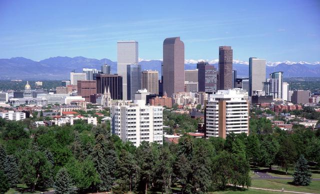 A view of the Denver skyline