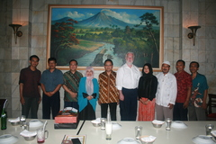 Professor Slomanson at the Dean's Dinner, Islamic University of Indonesia.
