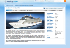 The CruiseWise ship guides feature comprehensive cruise information not available anywhere else online.