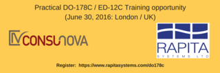 Practical DO-178C / ED-12C Training opportunity (June 30, 2016: London / UK)