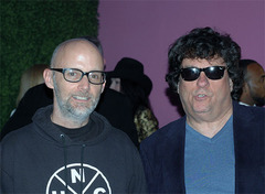 """Kubernik (right), met up with fellow author Moby (left), who just wrote his autobiography """"Porcelain: A Memoir.""""  - photo by Harold Sherrick."""