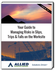 Allied Insurance Brokers Releases New eBook, 'Your Guide to Managing Risks in Slips, Trips & Falls on the Works…