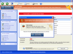 Windows AntiHazard Center persuades PC users to buy its bogus full version