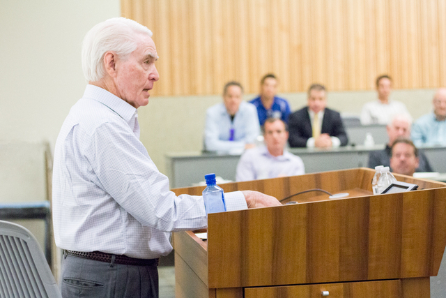 Former LA Dodgers General Manager and Executive Vice President Fred Claire speaking at Thomas Jefferson School of Law