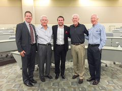 Bob Gaglione, Fred Claire, Jeremy Evans, Andy Strasberg (ACME Marketing Enterprises), Richard J. Freeman (Former President and Chief Operating Officer, San Diego Padres)