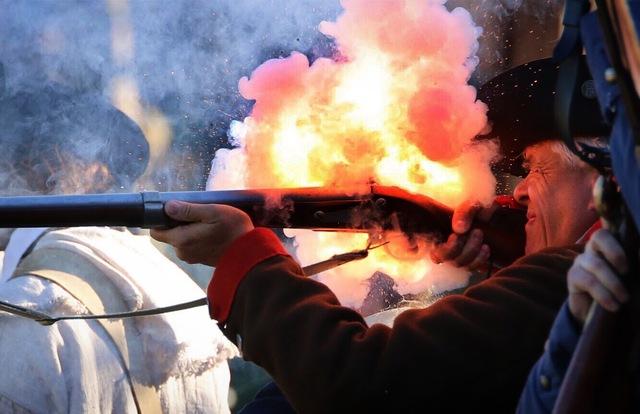 A soldier takes aim; photo courtesy Craig Miller.