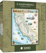MasterPieces California Xplorer Maps Jigsaw Puzzle