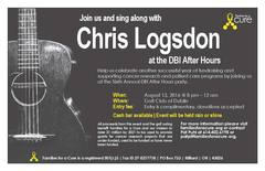 """Musician, singer and songwriter Chris Logsdon will provide entertainment for the free """"after party"""" event from 8 p.m. until 12 a.m. following the Double Bogey Invitational."""