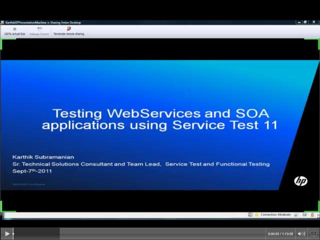 Meet the Expert Presentation: Testing WebServices and SOA Applications