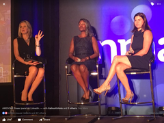 A Powerful LinkedIn Panel at Inman Connect. Sharing the stage with LinkedIn Influencer Heather Elias and Moderator Realtor Katie Maxwell.