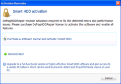 Smart HDD activation page. Do not purchase it!