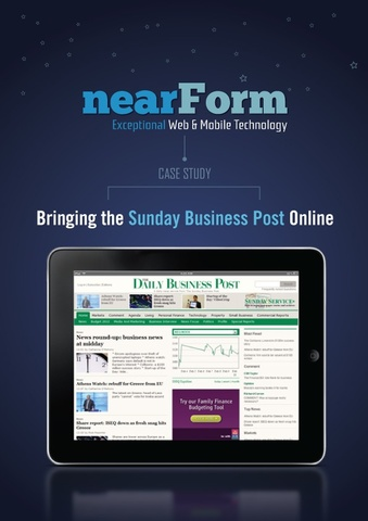 The new Sunday Business Post web and mobile service, created by nearForm, has just won a Nokia Digital Media Award.