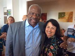 Justice Thomas with Thomas Jefferson School of Law Study Abroad Programs Director and Law Professor Susan Tiefenbrun