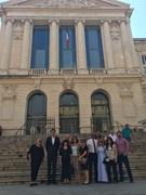 Students touring the Tribunal de grande instance de Marseille in France