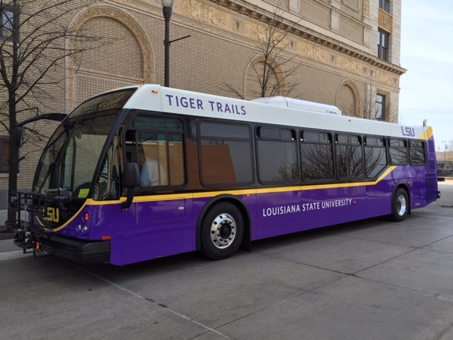 Louisiana State University Tiger Trails bus