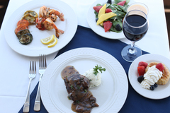 Surf and Turf Cruise Menu aboard Queen of Excelsior Luxury Yacht on Lake Minnetonka