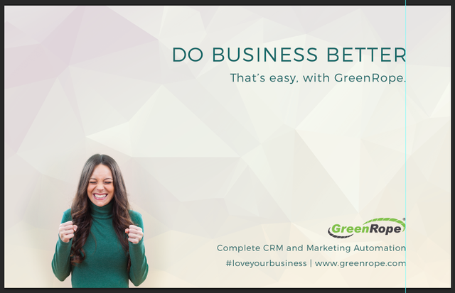 #DoBusinessBetter with GreenRope