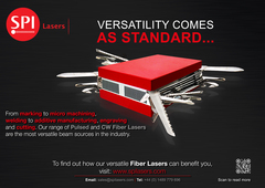 """With SPI Lasers """"versatility comes as standard""""<br />"""