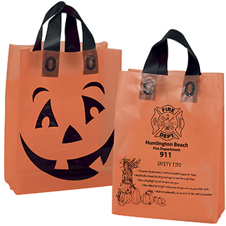 Halloween Trick or Treat Bags from Bagwell Promotions can be imprinted with a company or organization name, logo or message.