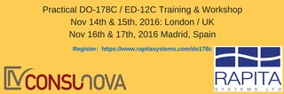 Practical DO-178C/ED-12C Training and Workshops Scheduled at Selected European Technology Centers