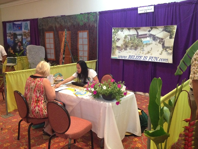 Exotic Caye Beach Resort at the Belize Tourism Expo