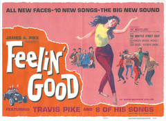 1966 Feelin' Good Half Sheet Movie Poster