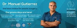 Dr. Manuel Gutierrez, leading plastic surgeon, is offering amazing plastic surgery prices