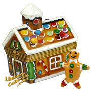 Give the perfect Holiday Gingerbread House Limoges box for an unforgettable gift.  On sale now at LimogesCollector.com