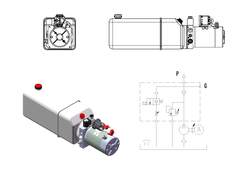 DC power unit CAD drawing