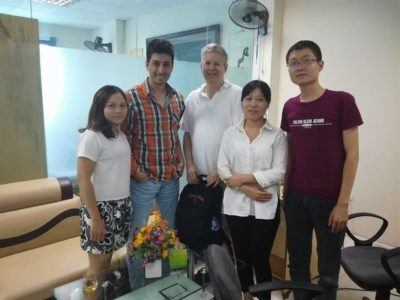 With 2 of Rep agent in Vietnam Tour Pedia's Office in Hanoi