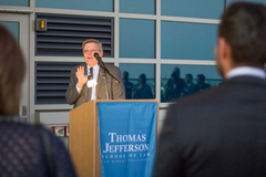 Dean Thomas Guernsey giving opening remarks