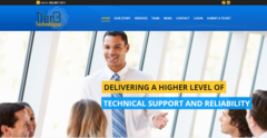 Tier3 Technologies' new website design incorporates the company's classic gold and blue colors found in their logo.