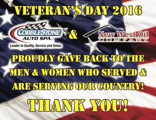 Record Number Of Veterans Receive Free Car Wash And Oil Change At Cobblestone