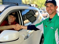 Veterans received free car wash and oil change at Cobblestone Auto Spa on Veteran's Day