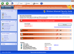 Windows Safety Module has a Security Essentials interface