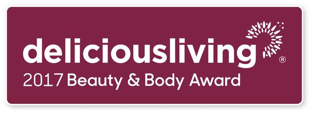 Delicious Living Magazine 2017 Beauty & Body Award Winners