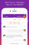 Qtok, available for both iOS and Android devices, offers users real-time translators and interpreters in more than 60 languages.