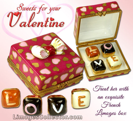 Find the perfect gift for Valentine's Day from a fantastic selection of hand-painted French porcelain Limoges box gifts at LimogesCollector.com
